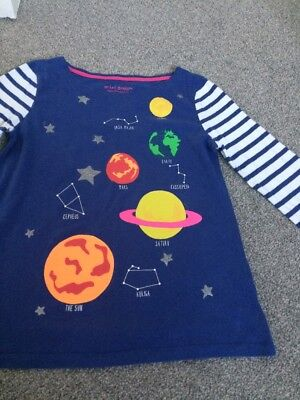 Mini Boden Girls Long Sleeve Space Top Age 9-10