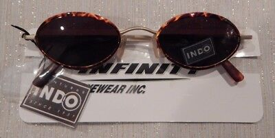 INDO New Power - 87 Gold Demi Sunglasses Eyeglass Frame NOS   #201