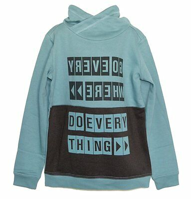 """S.Oliver Pullover/Sweater Slim Size 170/176 """" Do Everything """" in Petrol NEW"""