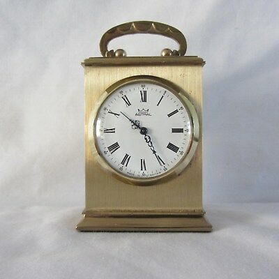 smiths astral miniature wind up brass carriage clock