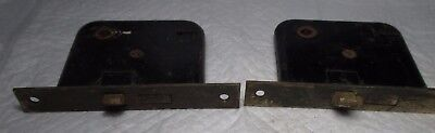 2 Antique Vintage Side Of The Door Mortise Lock Inserts architectural salvage