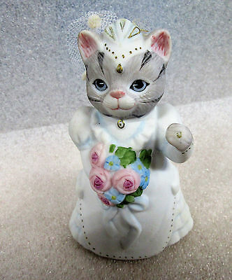 Kitty Cucumber ~ Bride in Wedding Dress ~ Porcelain Figurine