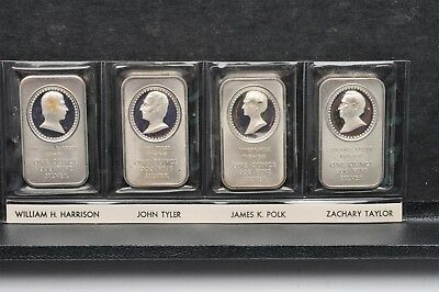 Lot of 4 - Madison Mint 1 OZ 999 Fine Silver Bars Presidential Cameos