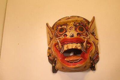 Painted Wooden Mask Indonesia
