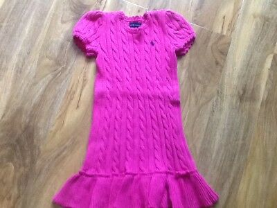 Ralph Lauren girls knitted dress age 5 years in lovely condition
