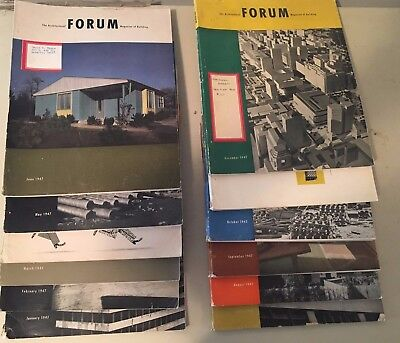 Lot 12 Full Year Jan-Dec 1947 Architectural Forum Magazines