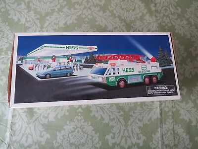 1996 Hess Emergency Truck Opened Once IN BOX