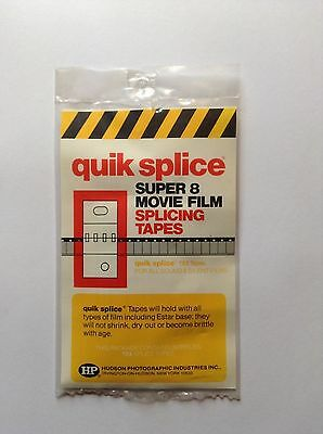 Hudson Photography Quik Splice Super 8mm movie Splice Tapes (sealed).