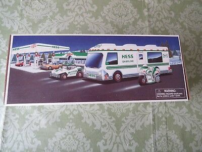 1998 Hess Recreational Van with dune Buggy and Motorcycle NEW IN BOX