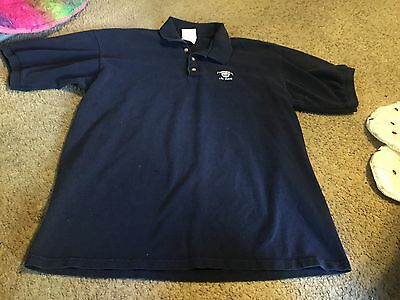 Nice men's size L Large Hard Rock Hotel Las Vegas NV Casino polo shirt navy blue
