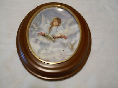 Bradford Exchange Angel's Wonder Blossom Of Love Plate With Frame