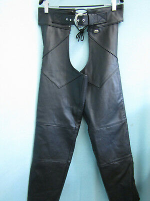 Harley Davidson Woman's Leather Motorcycle Chaps Medium