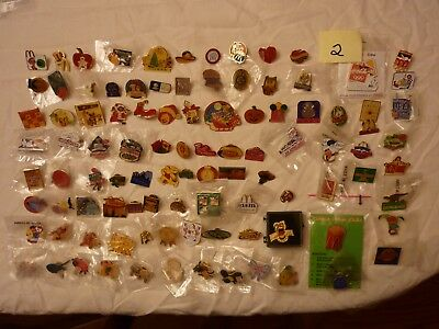 Lot #2  Approx 100 Mcdonalds Collector Lapel Pins