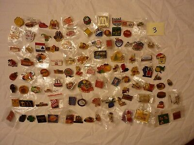 Lot #3  Approx 100 Mcdonalds Collector Lapel Pins
