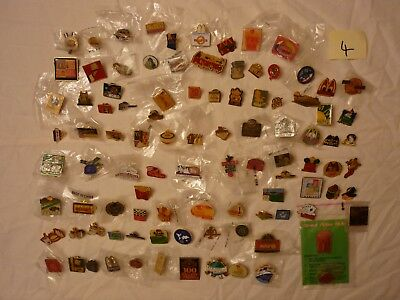Lot #4  Approx 100 Mcdonalds Collector Lapel Pins