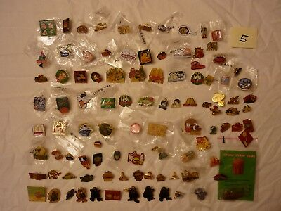 Lot #5  Approx 100 Mcdonalds Collector Lapel Pins