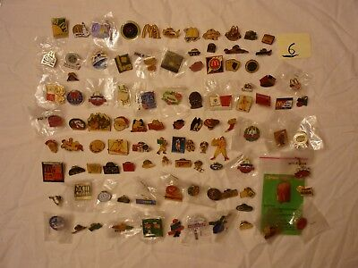 Lot #6  Approx 100 Mcdonalds Collector Lapel Pins