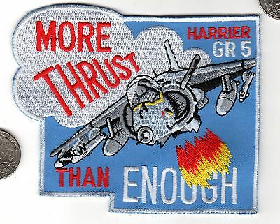 USMC NAVY British Harrier GR5 Fighter Squadron Patch Aircraft Carrier wing  xwzf