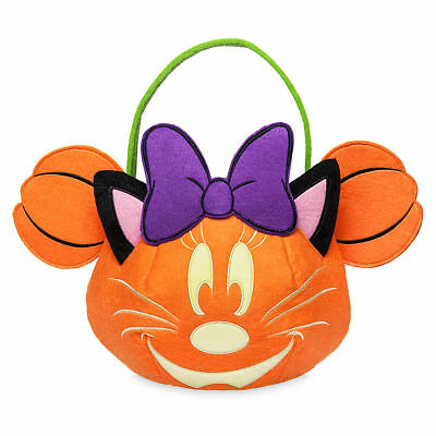 DISNEY Store HALLOWEEN 2017 TRICK OR TREAT Bag MINNIE Mouse GLOW in the Dark NWT