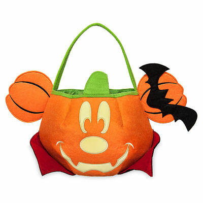 DISNEY Store HALLOWEEN 2017 TRICK OR TREAT Bag MICKEY Mouse GLOW in the Dark NWT