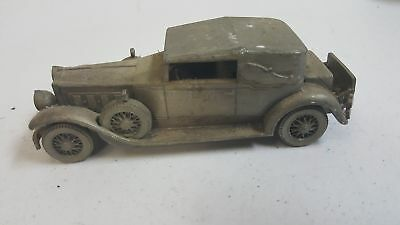 "Danbury Mint Pewter 1930 Packard Convertible Scale Model Car 6.5"" Long"