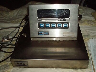 GSE 450 Scale System, Digital Display & Weighing Platform, works, printer cable?