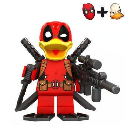 Deadpool the Duck Marvel Super Hero Minifigures Buildings Toy Custom Lego