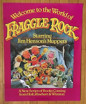 SCARCE Fraggle Rock Promotional Poster 1983, Jim Henson's Muppets