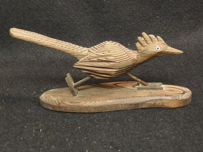Hand Carved Cryptomeria Wood Road runner