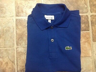 Lacoste Kids Blue Polo T-Shirt With Chest Logo Age 6 Years Old