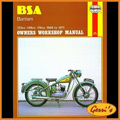 0117 Haynes BSA Bantam 1948 - 1971 Workshop Manual