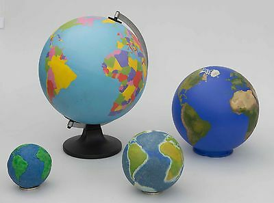 Lot of four 'copyright free' Globes for Photography, Film and Television.