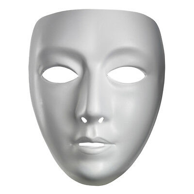 Blank Female White Costume Face Mask | Disguise 10476