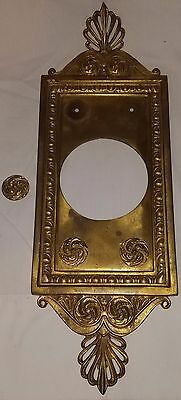 Vintage Victorian Style Brass Hardware Giant Doorbell Panel Elaborate