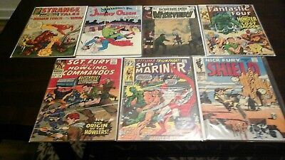 Marvel Dc Silver Age Ungraded Comic Lot Of 7 With Keys No Reserve Lot #1