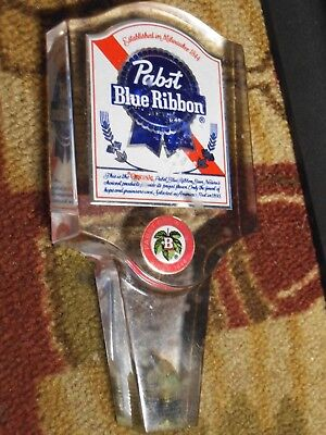VINTAGE PABST BLUE RIBBON BREWING Acrylic PBR Beer Tap Handle