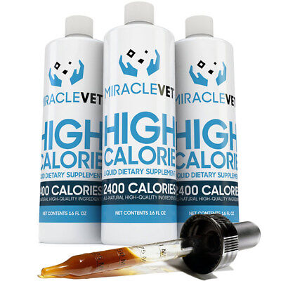 Miracle Vet Dog weight gainer supplement — 2,800 calories per bottle