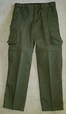 "BOY SCOUT Convertible / Switchback Uniform ""Cargo"" Pants in Youth size 16"