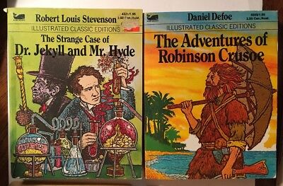 Lot Of 5 Illustrated Classic Edition Paperback Vintage Moby Books.