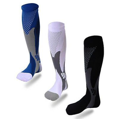 Mens Sports Knee Stockings High Compression Socks for Running Fitness Crossfit.