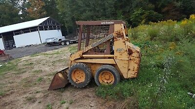 case 1818 diesel skid loader bobcat no reserve