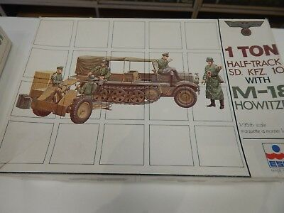 1/35  1 ton SD. KFZ 10 with  M-18 HOWITZER  by  Esci