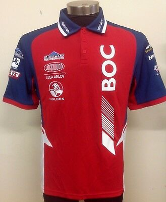 V8 Supercars Holden Racing Team BOC Team Polo Shirt Small-Large