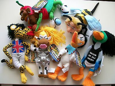 Infamous Meanies - Complete Set Of 6 - Retired - Idea Factory - New W/ Tags