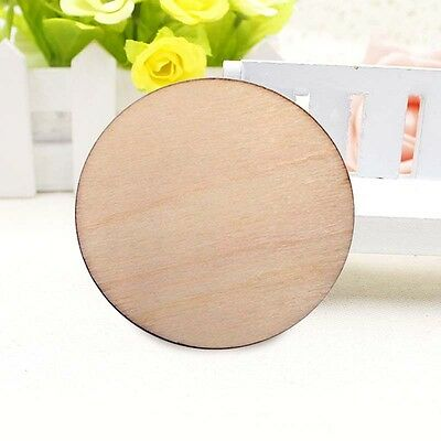 50/100pcs Wooden Log Slices Discs Round Decor Rustic Wedding Pyrography Decor.