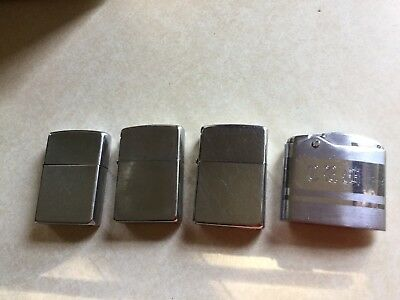 Vintage Zippo Lighter lot of 3 Zippo Lighters Plus One