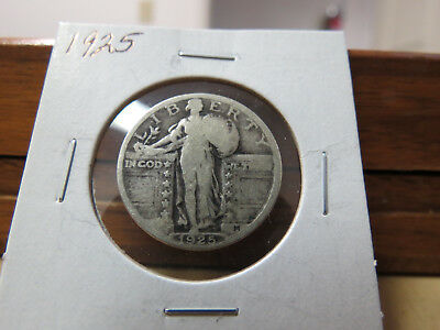 1925 VG Silver Standing Liberty Quarter Lot W6