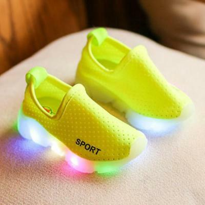 Kids Mesh Led Light Up Shoes Breathable Loafers Sneakers for Boys Girls Unisex