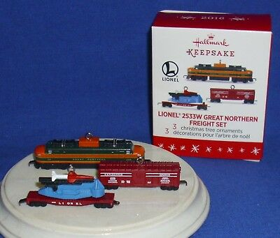 Hallmark Miniature Ornament Lionel Trains 2533W Great Northern Freight Set 2016