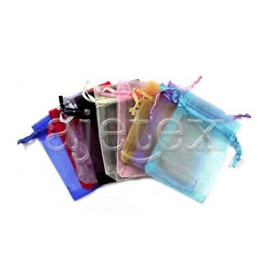 25pcs 9x12cm Multi-Color ORGANZA XMAS GIFT BAG Wedding Jewellery Pouches FB